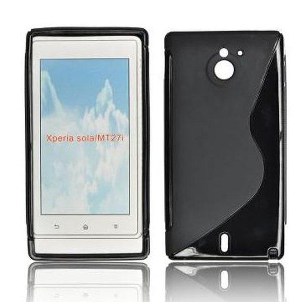 Puzdro silikonové S-TYPE pre Sony Xperia Sola - MT27   Black