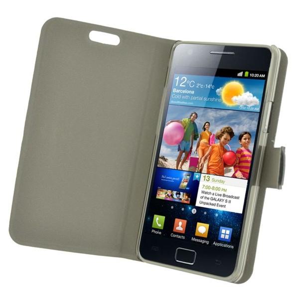Puzdro Slim Fit pre Samsung Galaxy SII/ SII Plus, Flash Black