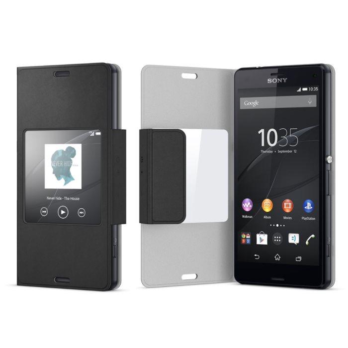 Puzdro Sony Style Cover SCR26 pre Sony Xperia Z3 Compact - D5803, Black