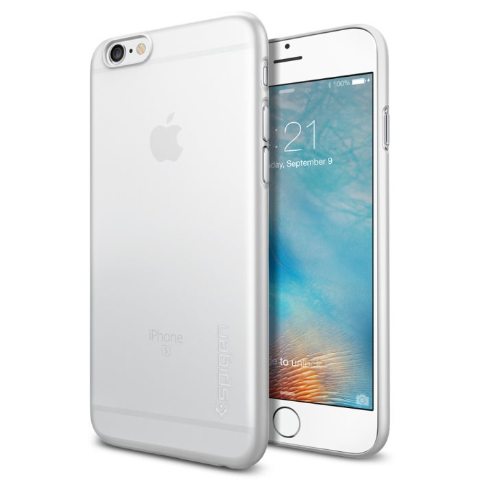Puzdro Spigen Air Skin pre Apple iPhone 6 a 6S, Soft Clear