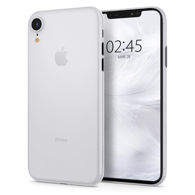 Puzdro Spigen Air Skin pre Apple iPhone Xr, White