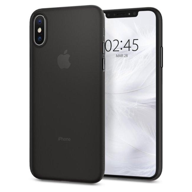 Puzdro Spigen Air Skin pre Apple iPhone XS/X, Black 063CS24910