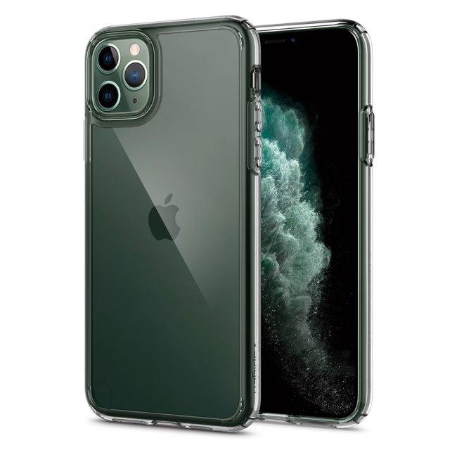 Puzdro Spigen Crystal Hybrid pre Apple iPhone 11 Pro Max, Clear