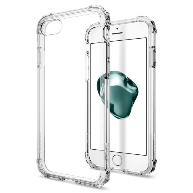 Puzdro Spigen Crystal Shell pre Apple iPhone 7 a iPhone 8, Crystal