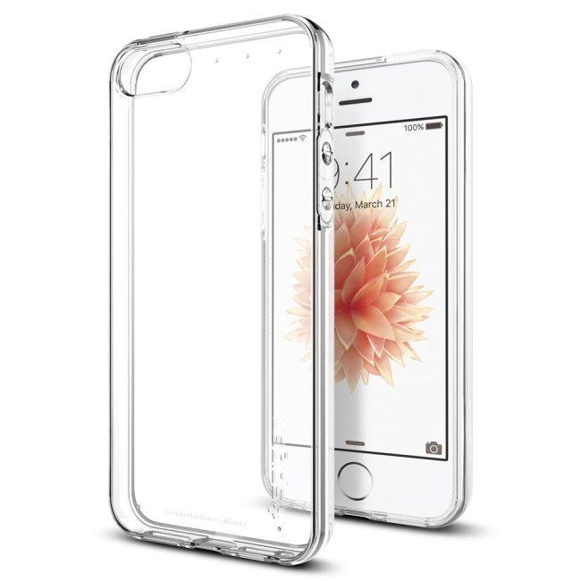 Puzdro Spigen Liquid Armor pre Apple iPhone SE 2016/5s/5, Clear 041CS20247