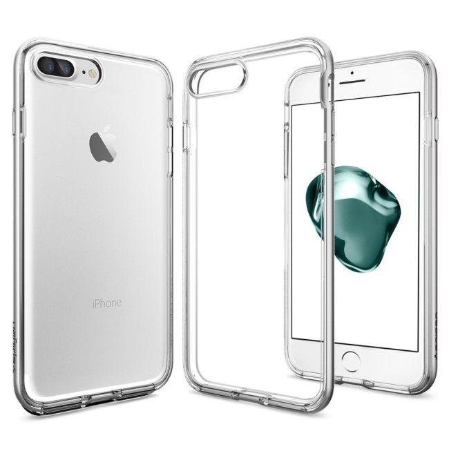 Puzdro Spigen Neo Hybrid Crystal pre Apple iPhone 7 Plus a iPhone 8 Plus, Satin Silver 043CS20684