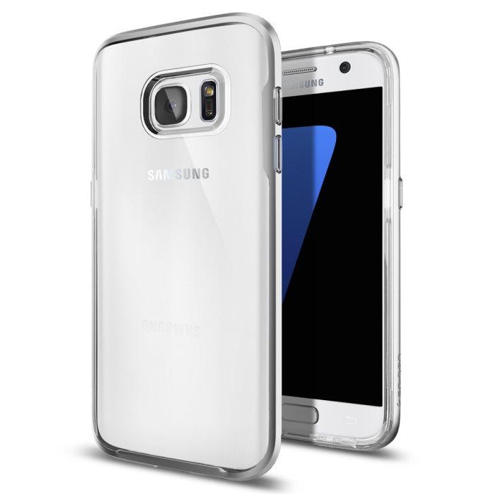 Puzdro Spigen Neo Hybrid Crystal pre Samsung Galaxy S7 - G930F, Satin Silver 555CS20021