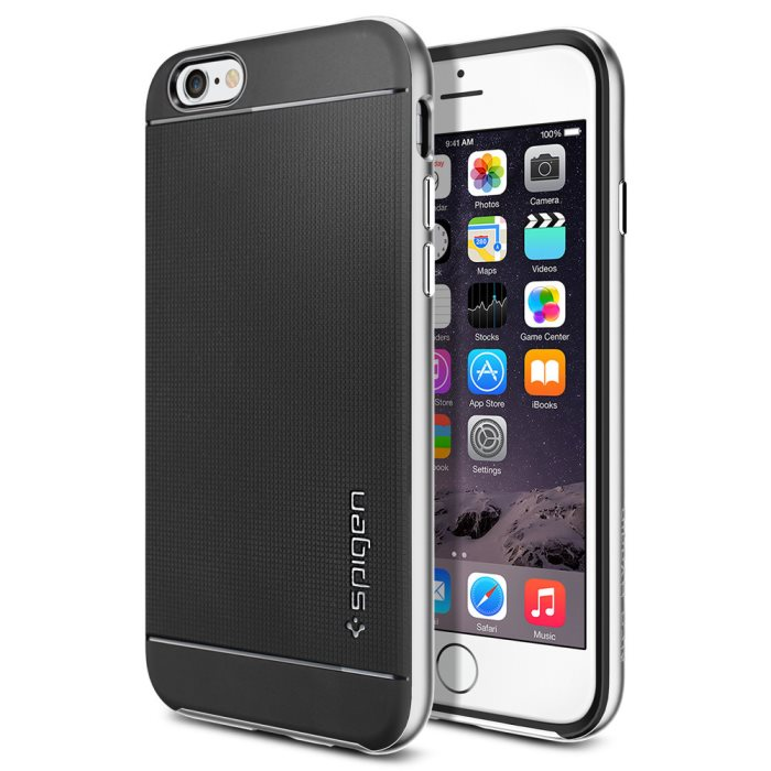 Puzdro Spigen Neo Hybrid pre Apple iPhone 6 a 6S, Satin Silver