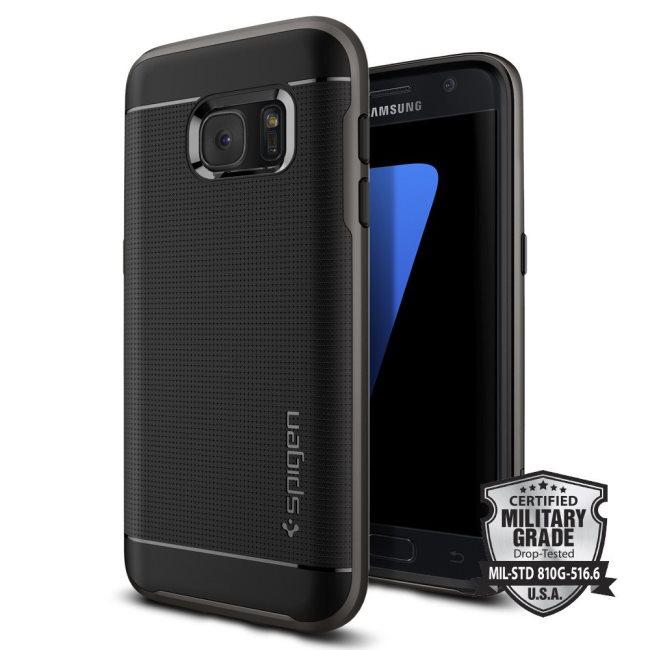 Puzdro Spigen Neo Hybrid pre Samsung Galaxy S7 - G930F, Gunmetal