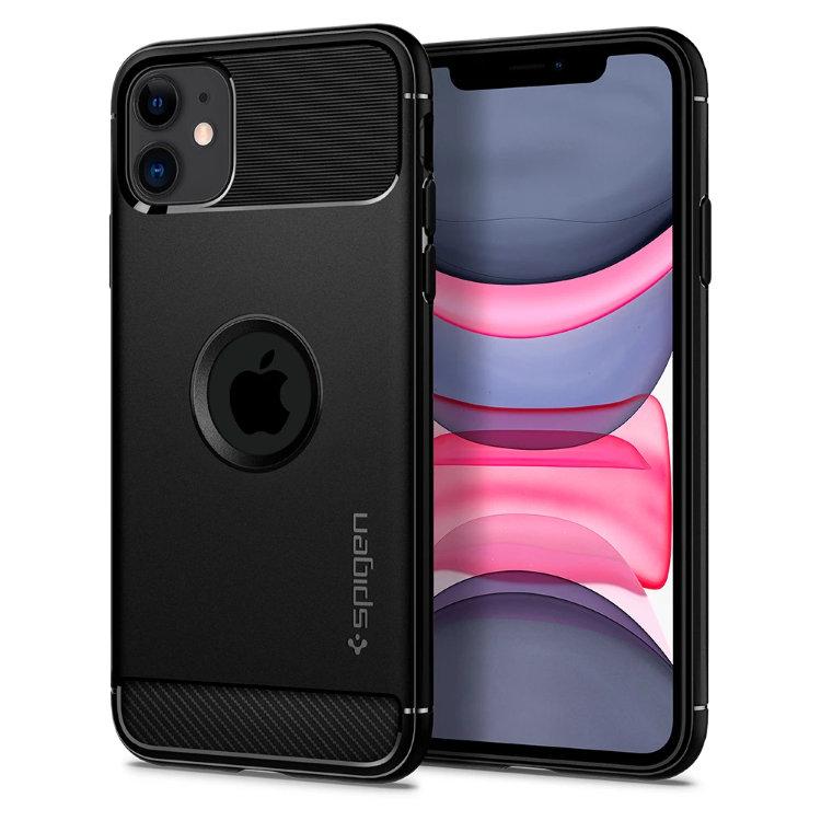 Púzdro Spigen Rugged Armor Apple iPhone 11, Čierne