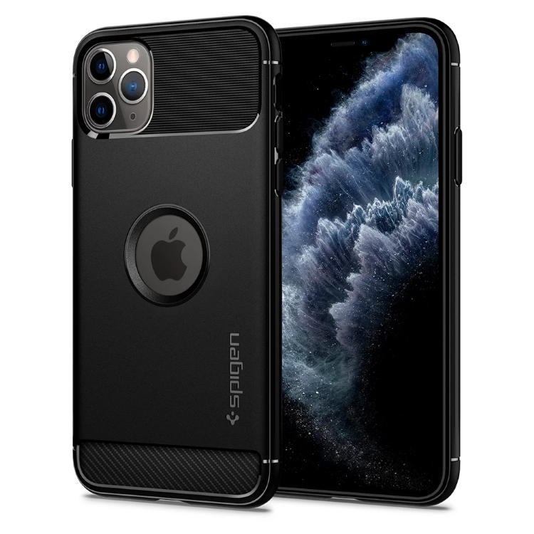 Puzdro Spigen Rugged Armor pre Apple iPhone 11 Pro Max, Matte Black