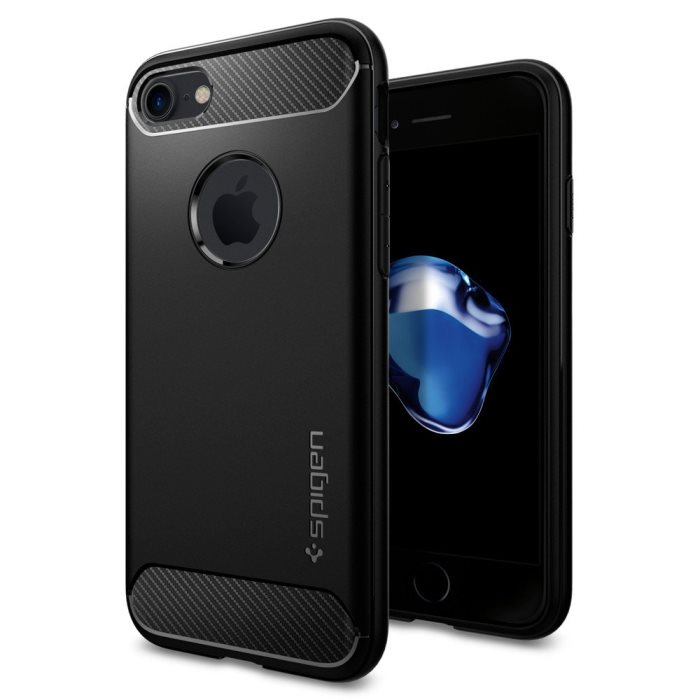 Puzdro Spigen Rugged Armor pre Apple iPhone 7 a iPhone 8, Black