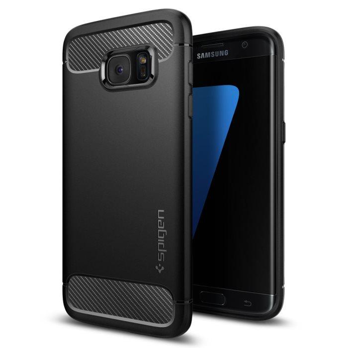 Puzdro Spigen Rugged Armor pre Samsung Galaxy S7 Edge - G935F, Black