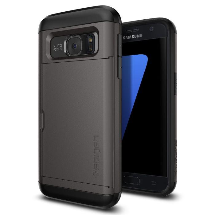 Puzdro Spigen Slim Armor CS pre Samsung Galaxy S7 - G930F, GunMetal 555CS20016