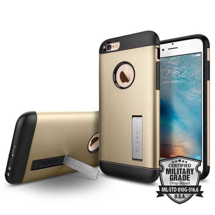 Puzdro Spigen Slim Armor pre Apple iPhone 6 a 6S, Champagne Gold