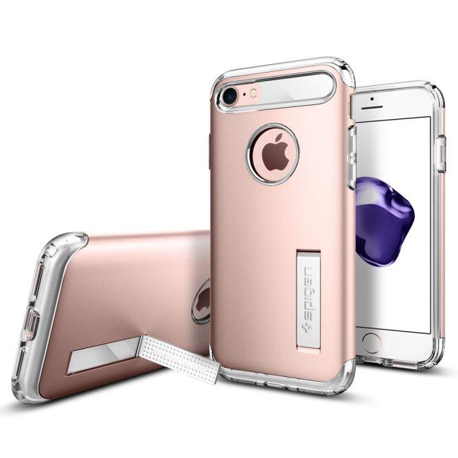 Puzdro Spigen Slim Armor pre Apple iPhone 7 a iPhone 8, Rose Gold 042CS20303