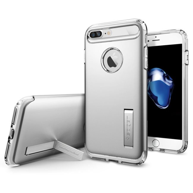 Púzdro Spigen Slim Armor Satin s Apple iPhone 7 Plus strieborné