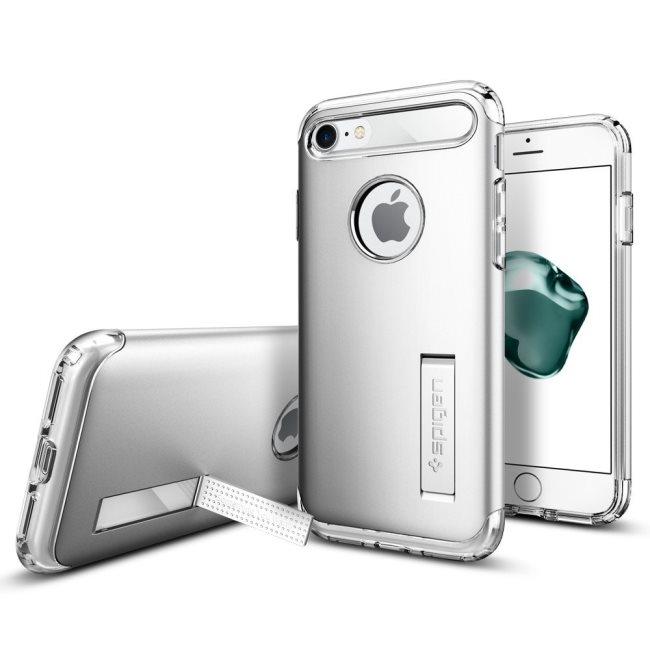 Puzdro Spigen Slim Armor pre Apple iPhone 7, Apple iPhone 8, Satin Silver