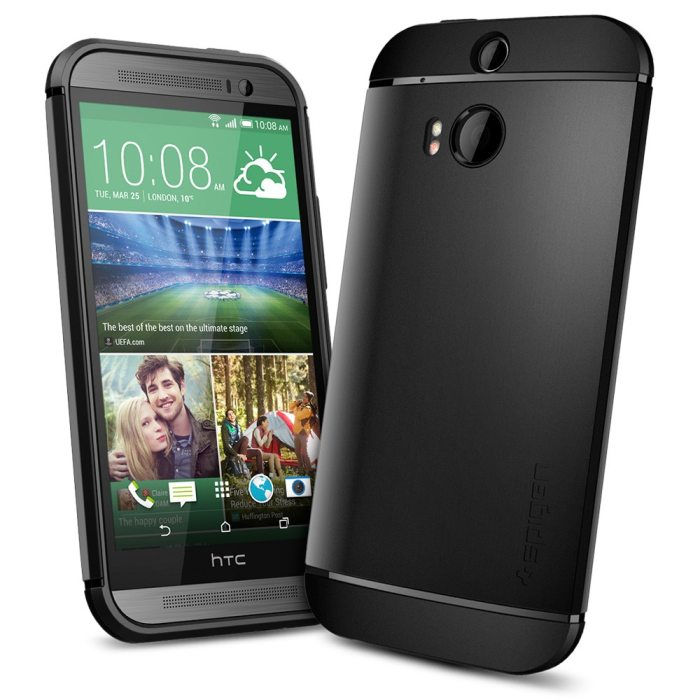 Puzdro Spigen Slim Armor pre HTC ONE - M8, Smooth Black