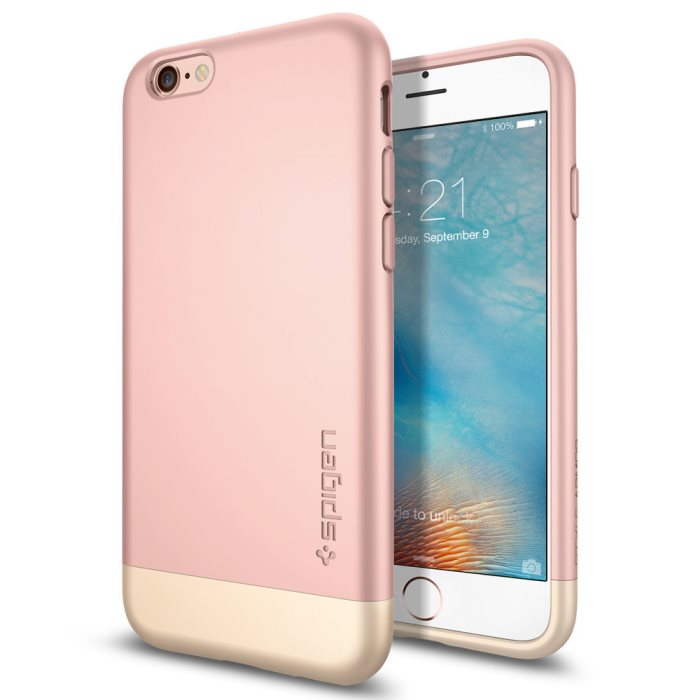 Puzdro Spigen Style Armor pre Apple iPhone 6S, Rose Gold