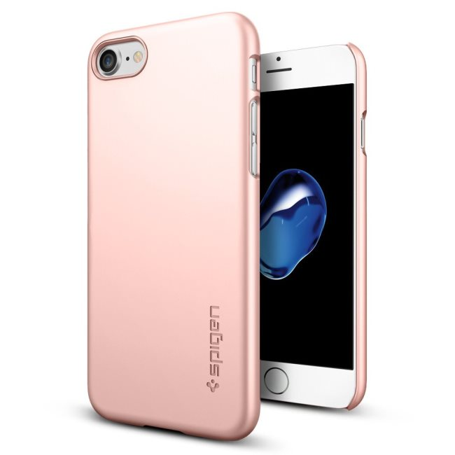Puzdro Spigen Thin Fit pre Apple iPhone 7 a iPhone 8, Rose Gold 042CS20429
