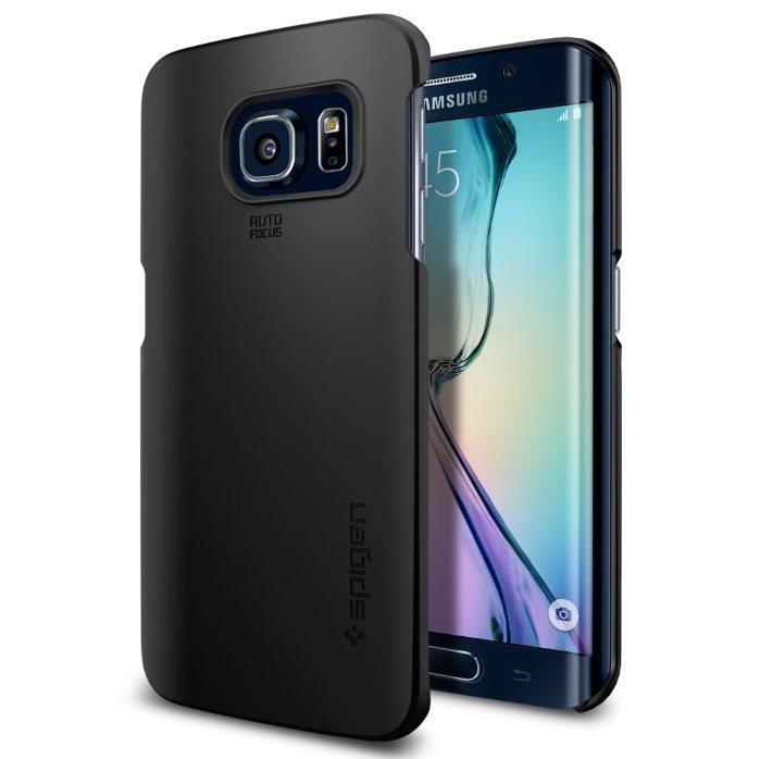 Puzdro Spigen Thin Fit pre Samsung Galaxy S6 Edge - G925F, Smooth Black SGP11562