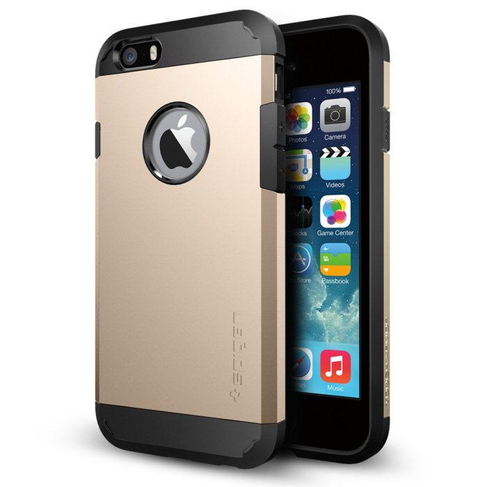 Puzdro Spigen Tough Armor pre Apple iPhone 6 a 6S, Champagne Gold