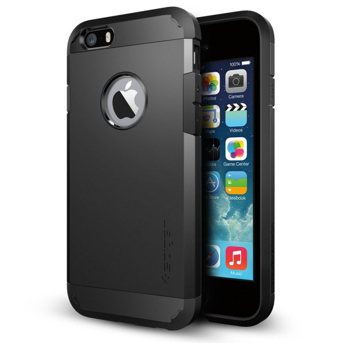 Puzdro Spigen Tough Armor pre Apple iPhone 6 a 6S, Smooth Black