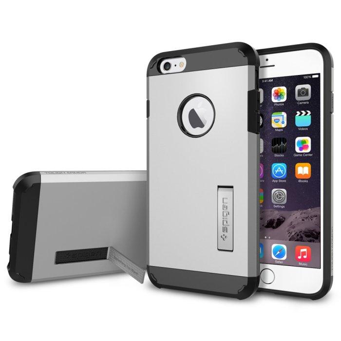 Puzdro Spigen Tough Armor pre Apple iPhone 6 Plus a 6S Plus, Satin Silver SGP10917