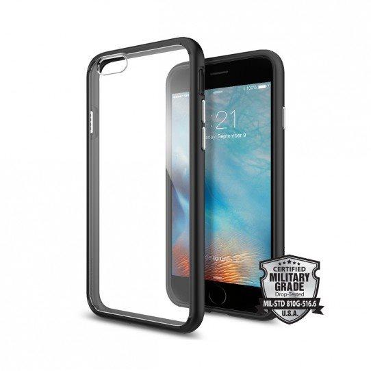 Puzdro Spigen Ultra Hybrid pre Apple iPhone 6 a 6S, Black SGP11600