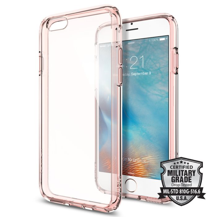Puzdro Spigen Ultra Hybrid pre Apple iPhone 6 a 6S, Rose Crystal