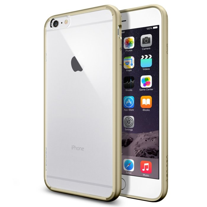 Puzdro Spigen Ultra Hybrid pre Apple iPhone 6 Plus a 6S Plus, Champagne Gold