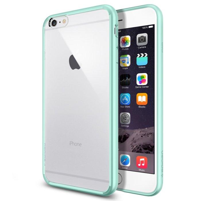 Puzdro Spigen Ultra Hybrid pre Apple iPhone 6 Plus a 6S Plus, Mint