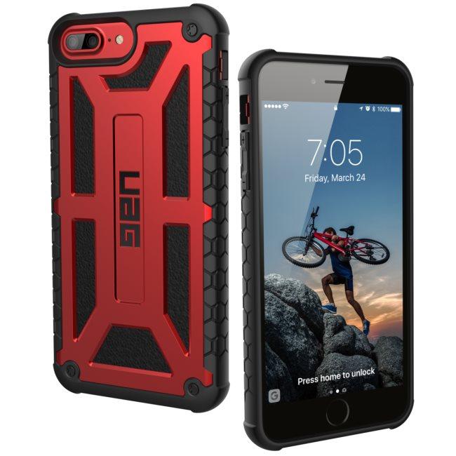 Puzdro UAG Monarch pre Apple iPhone 6S Plus, 7 Plus, 8 Plus, Crimson