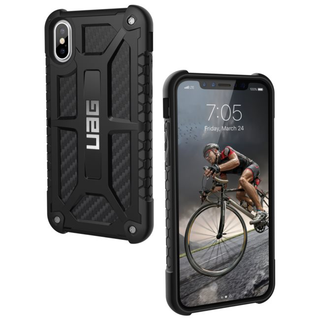 best loved 1aa0e f85a4 Puzdro UAG Monarch pre Apple iPhone X, Carbon Fiber-