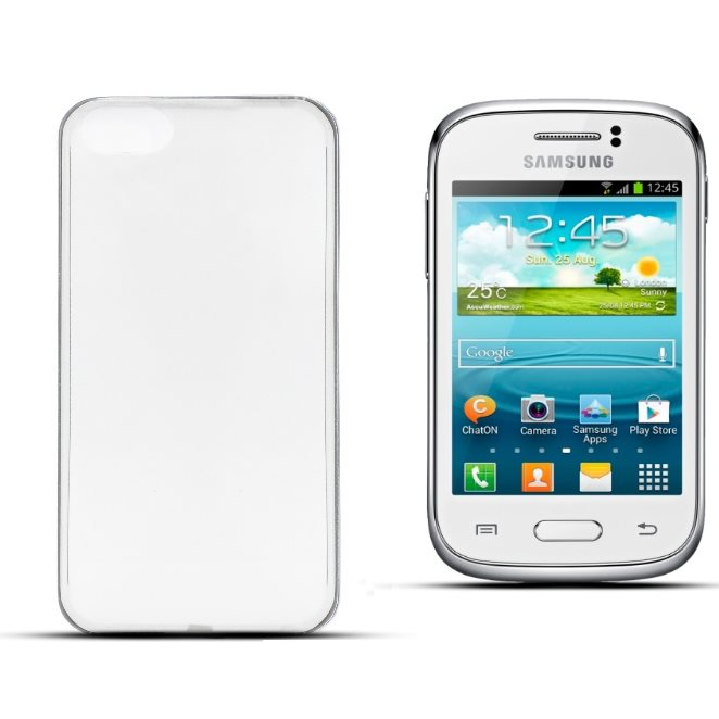Puzdro ultra tenk� 0,5mm pre Samsung Galaxy Young 2 - G130, Transparent