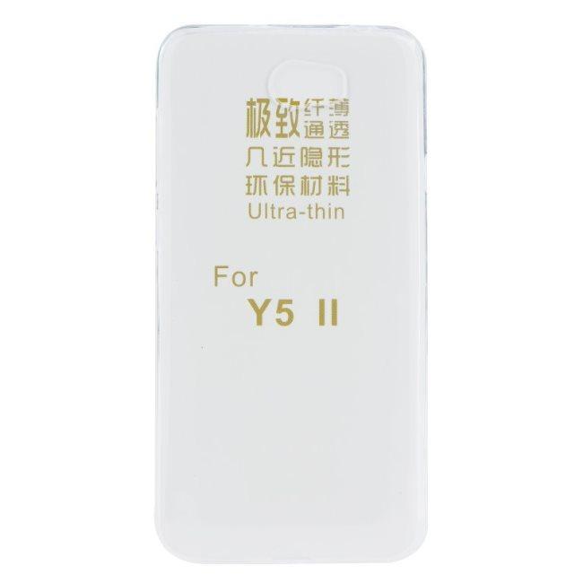 Puzdro ultra tenké pre Huawei Y5II a Huawei Y6II Compact, Transparent