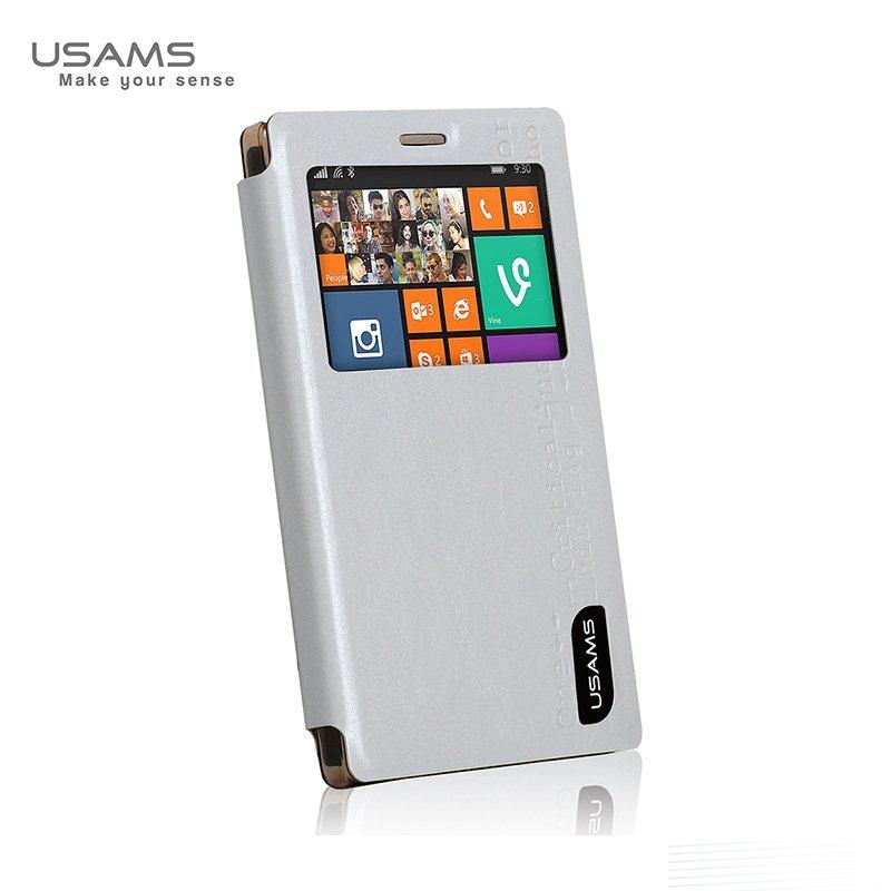 Puzdro USAMS MERRY S-VIEW pre Nokia X2, White 6958444910697