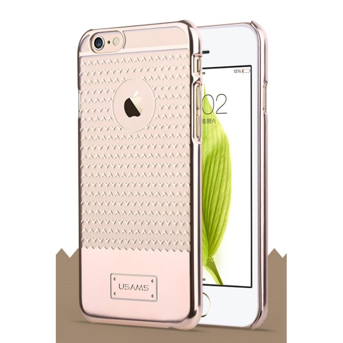 Puzdro USAMS V-Plating TPU pre Apple iPhone 6, Gold