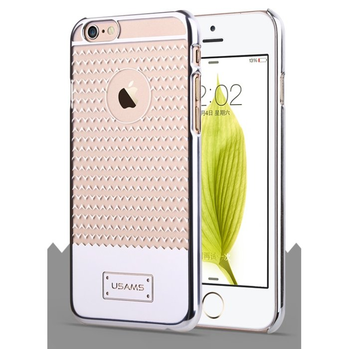 Puzdro USAMS V-Plating TPU pre Apple iPhone 6, Silver