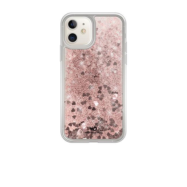 Puzdro White Diamonds Sparkle pre Apple iPhone 11, Rose Gold Hearts 1410SPK11