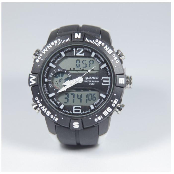 Quamer Explorer Watch, Black