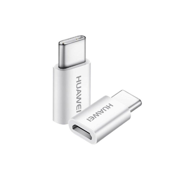 Redukcia Huawei AP20 z MicroUSB na USB-C, White 04071259