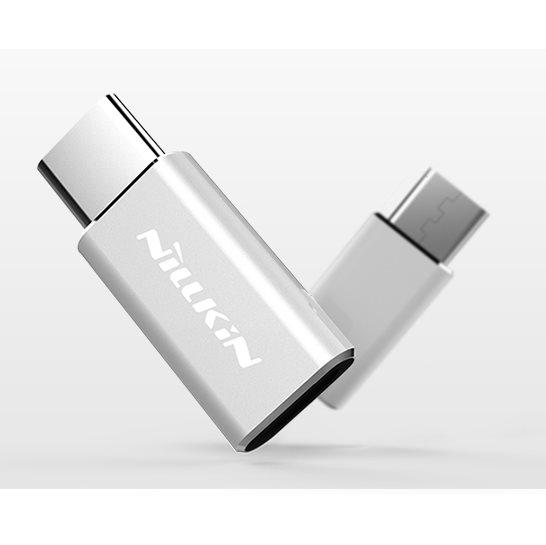 Redukcia Nillkin z MicroUSB na USB-C, Silver