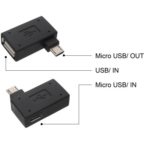 Redukcia z microUSB na USB - On To Go (OTG), Black