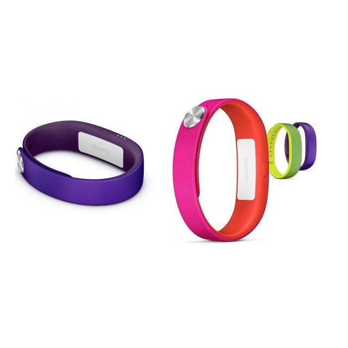 Remienok Sony SWR110 Active pre Sony Smartband SWR10 - 1x Lime+ 1x Purple + 1x Pink, Large