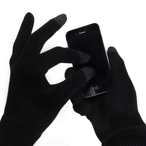 Rukavice na ovládanie dotykového displeja, čierne