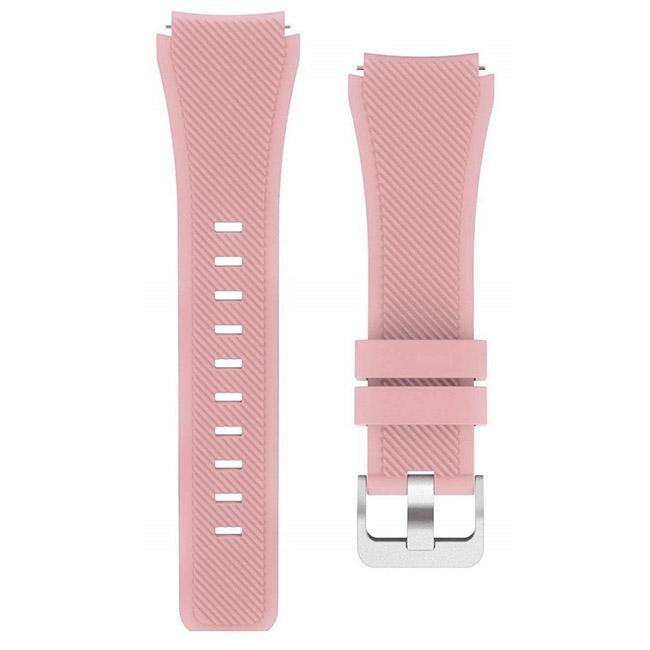 Ružový silikónový náramok pre Samsung Galaxy Watch - SM-R800, 46mm V2