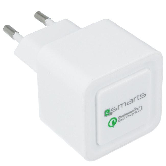 Rýchlonabíjačka 4Smarts - Qualcomm Quick Charge 2.0, White