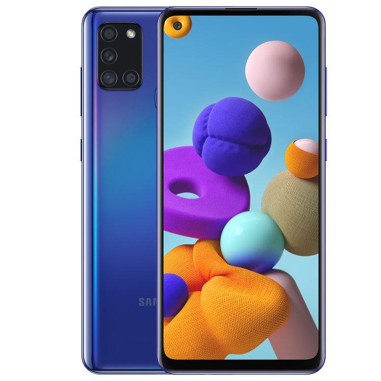 Samsung Galaxy A21s - A217F, Dual SIM, Blue - SK distribúcia
